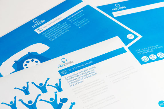 Making an individual into a Brand - Marketing Material Design