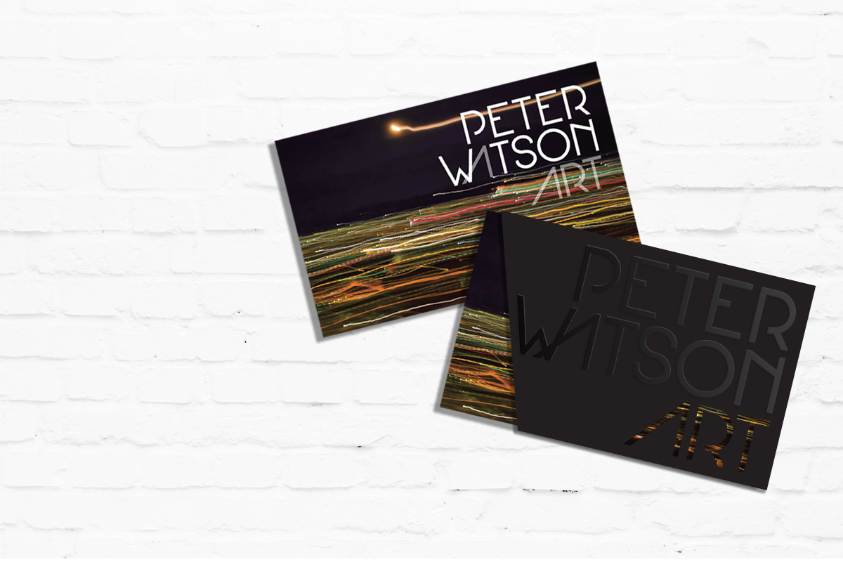 Brand, Collateral & Marketing Material for Peter Watson Art | Brand for Brands Agency