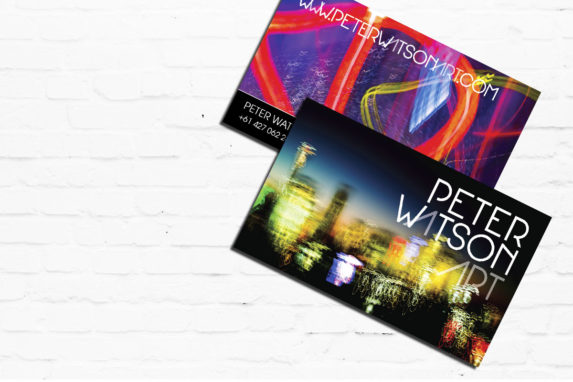 Business Cards & Marketing Material for Peter Watson Art | Brand for Brands Agency