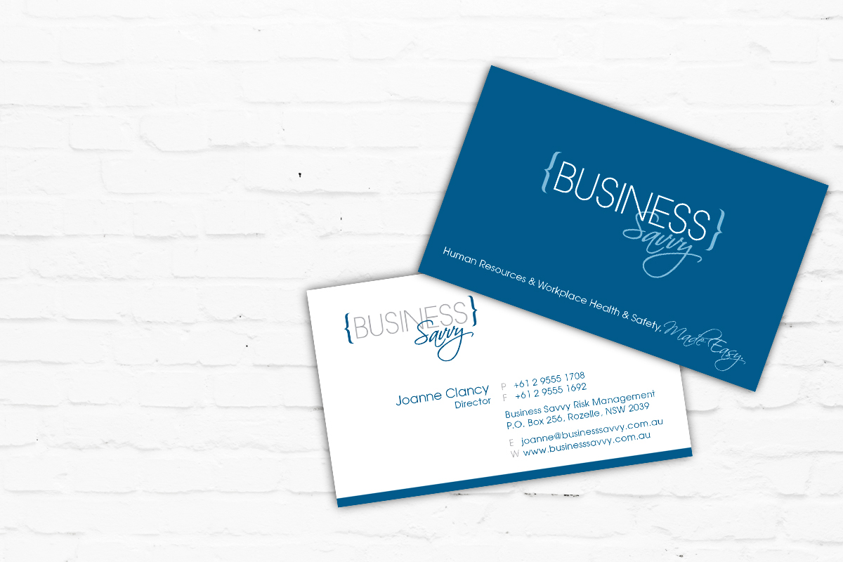 Business Card Design | Brand for Brands Agency | Graphic Design Sydney