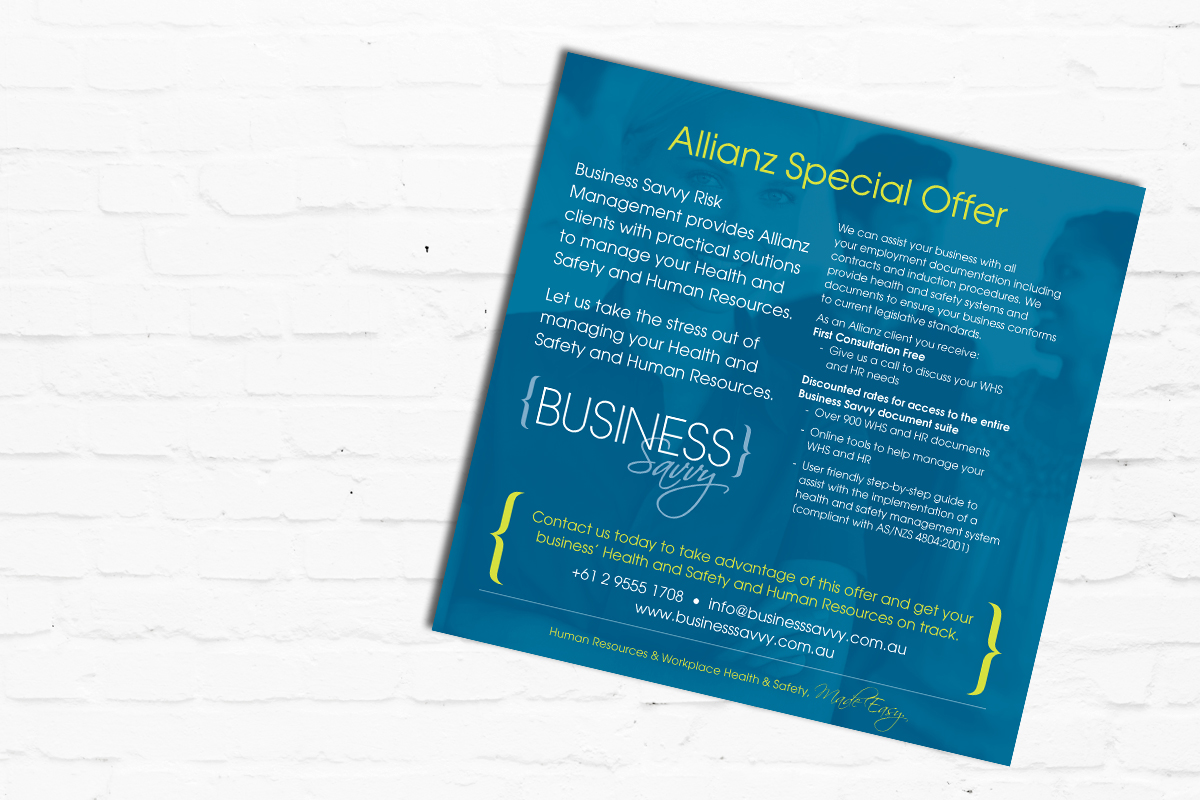 Flyer Design | Brand for Brands Agency | Graphic Design Sydney