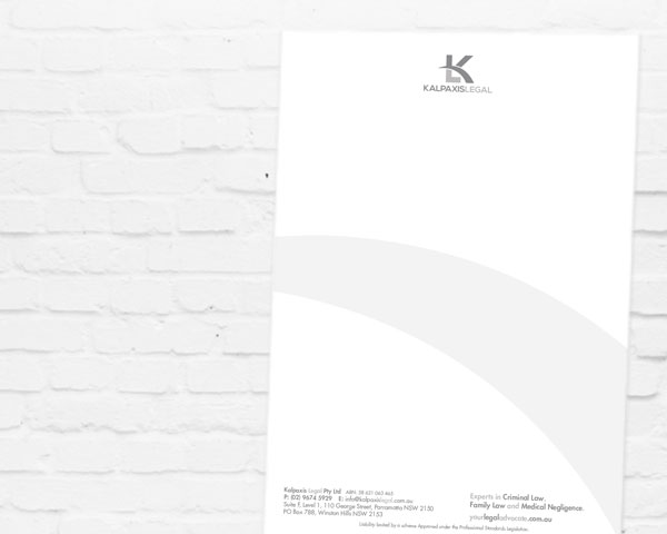 Letterhead Design | Graphic Design Sydney | Brand for Brands Agency