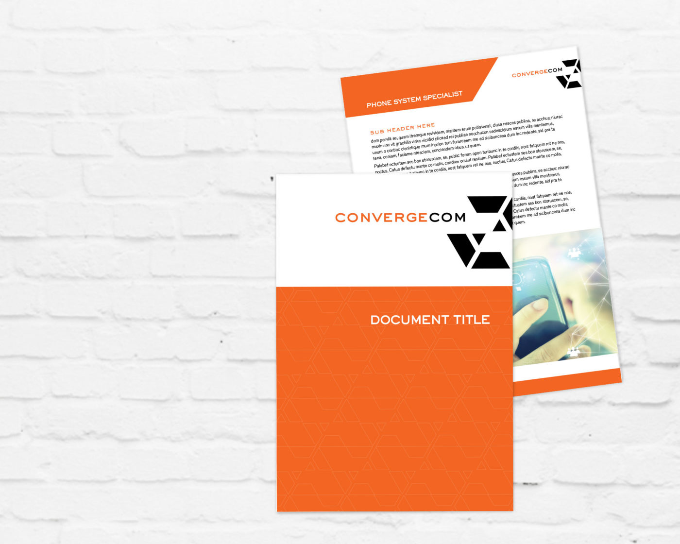 Brand, Collateral Design & Template Design for Telecommunications Contractor | Graphic Design Sydney
