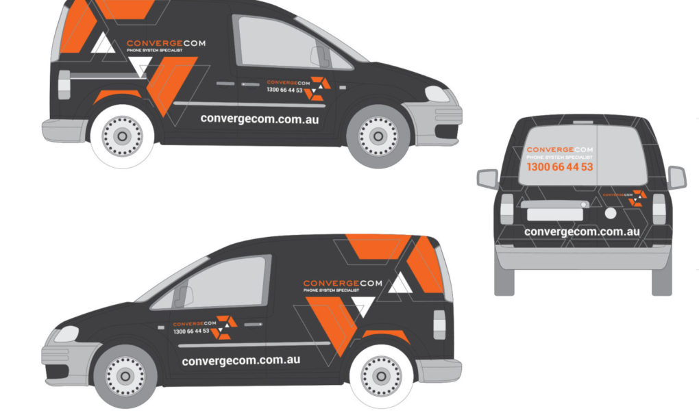 Brand & Vehicle Design for Telecommunications Contractor   Brand for Brands Agency